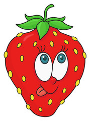 Fresh strawberry cartoon