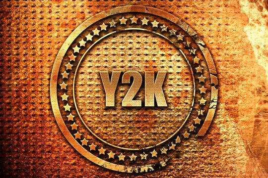 y2k, 3D rendering, metal text
