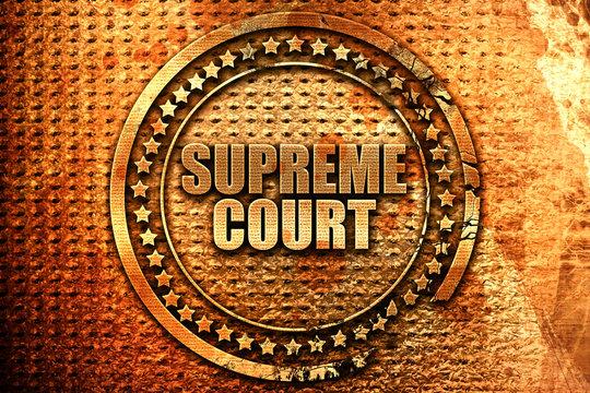 supreme court, 3D rendering, metal text