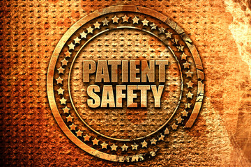 patient safety, 3D rendering, metal text