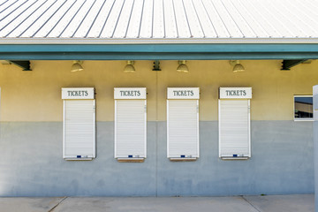 Ticket window at the fairgrounds