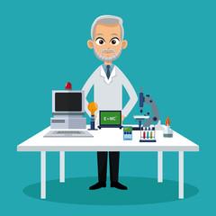 doctor medical workspace vector illustration eps 10