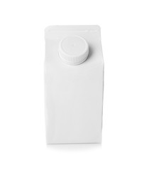 Simple milk box on white background
