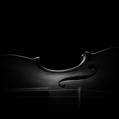 Photo sur Toile Musique Violin classical music dark background