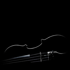 Violin silhouette Musical instruments