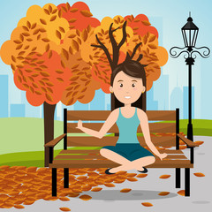 person on the park vector illustration design