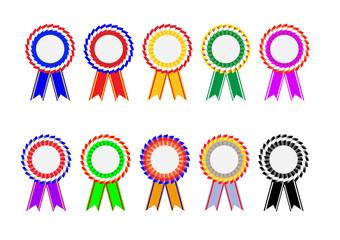 Color ribbon circle shape collection