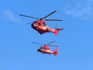 Fotobehang Helicopter 消防ヘリコプター