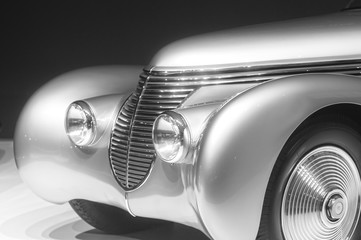classic vintage retro car detail photo