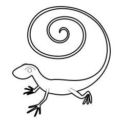 Fast lizard icon, outline style