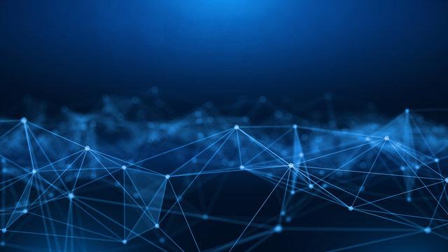 Concept of Network, internet communication. 3d illustration