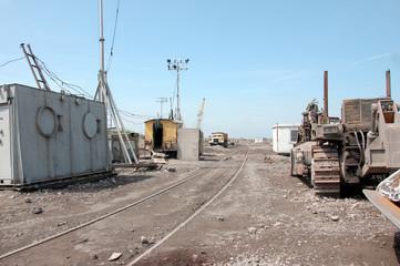 Industrial equipment in quarry