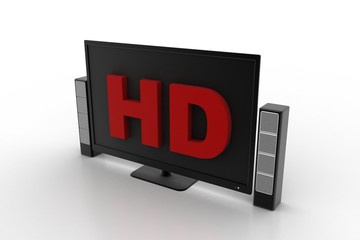 Hd tv monitor with speaker