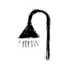 grunge shower symbol