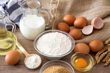 homemade sweets - eggs, flour, milk.