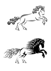 Horse Tribal Tattoo