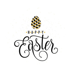 Vector illustration of happy easter greeting template