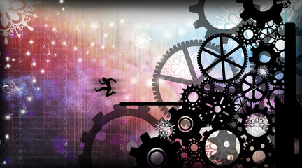 How technology speeds up time and life silhouette art photo manipulation