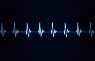 Heartbeat Blue Backrgound