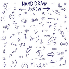 Hand drawing. arrow set. Icons. For your design.