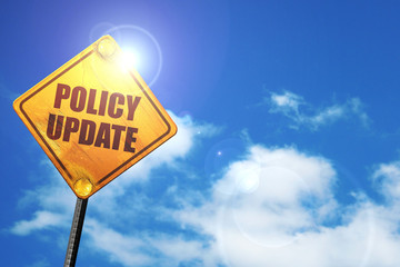 policy update, 3D rendering, traffic sign
