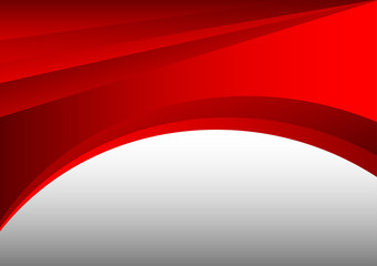 red and gray abstract waves background vector and copy space
