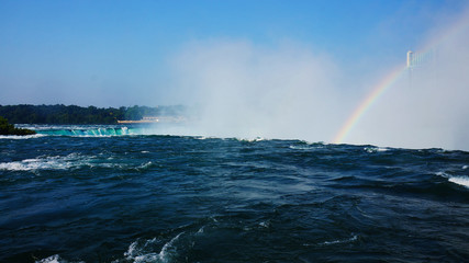 Rainbow over Niagara Falls, USA