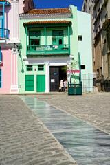 Casa del Carmen Montilla am Plaza de San Francisco, Altstadt von Havanna, Kuba