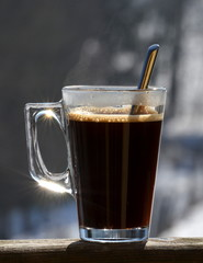 coffee in glass