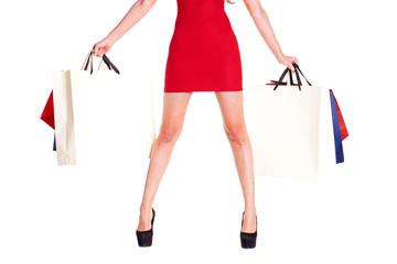 Part body, beautiful female slender legs