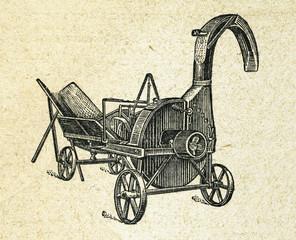 Agriculure machine, vintage engraved illustration