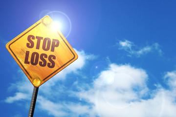 stop loss, 3D rendering, traffic sign