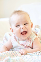 Cute smiling baby girl