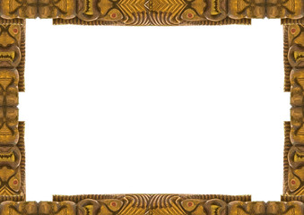 White Frame with Decorated Tribal Borders