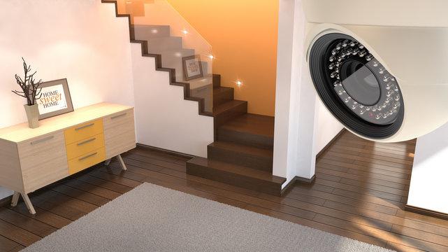 Security camera and interior