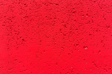Red concrete wall