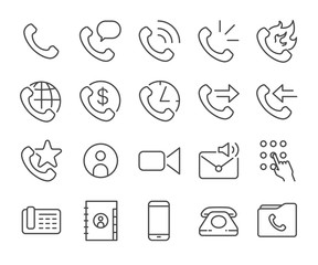Mobile and cell phone icons set