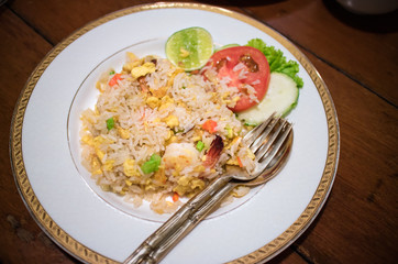 A Thai dish of fried rice with crabmeat