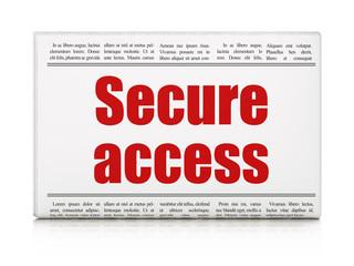 Security concept: newspaper headline Secure Access