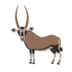 Cartoon Oryx Antelope
