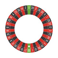 American roulette wheel.