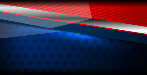 USA Flag Color Background