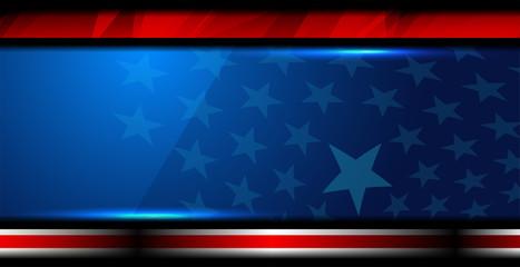 USA Flag Color Background
