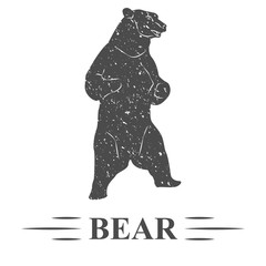 медведь стоит на задних лапах, винтаж.