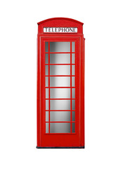 Rote Telefonzelle.