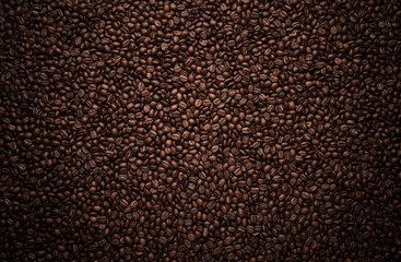 Photo sur Aluminium Café en grains Texture of coffee beans