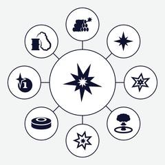Set of 9 bang filled icons