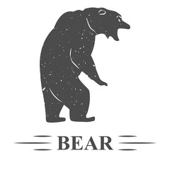 нападение медведя Винтаж