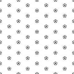 Soccer ball seamless pattern.