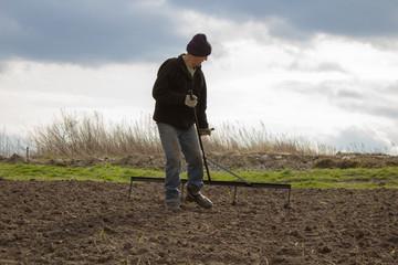 rake the soil to work